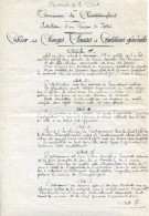 Cahier Des Charges Pour La Construction De La Poste De Champsanglard (23), 28 Juin 1914 - Documents Historiques