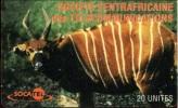 Central African Republic - D11, Antelope, Schlumberger - SC7, 20U, Used - Repubblica Centroafricana
