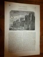 1847 MP Vue Des Murailles D' Aigues-Mortes (avec Gravure) ; Modes De L'habillement à Strasbourg En 1706 (avec Gravures) - 1800 - 1849