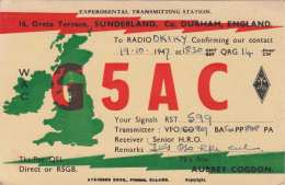 Sunderland, Co. DURHAM, ENGLAND To RADIO OKIKY 1947 - Radio
