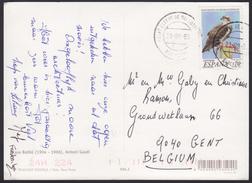1999 - ESPANA - Card + Y&T 3185 (Pandion Haliaetus) + SANT ESTEVE DE PALAUTORDERA (BARCELONA) - 1931-Aujourd'hui: II. République - ....Juan Carlos I
