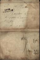 Lettre Pour Un Bourgeois De Nantua Ain Port Payée XVIII Lenain 22 Lyon N°22 Indice 16 Verso Taxe Manuscrite 5 - Marcofilia (sobres)