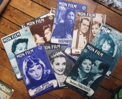 "ANNEES 50 "" MON FILM "",REVUE A L'UNITE OU EN LOT,LEIGH,WAYNE,GABLE,HEPBURN,LOLLOBRIGIDA,PHILIPPE,BRASSEUR,DELORME - Film & TV"