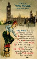 SUFFRAGE - SUFFRAGETTES - THE HOUSE THAT MAN BUILT #2 - Satirical