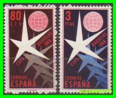 ESPAÑA -  SELLOS  SERIE  AÑO 1958  EXPOSICIÓN DE BRUXELAS - 1951-60 Nuevos & Fijasellos