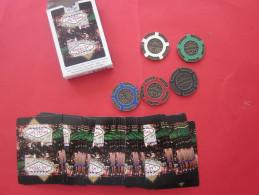 Lot 5 Jetons Slot Casino:Las Vegas Nevada 100 Years Centennial Centenaire 100 Ans 1905/2005+jeu De Cartes Playing Card - Casino