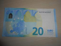 Austria Österreich Autriche 20 Euro Draghi  Serial Number: NZ!!! - EURO