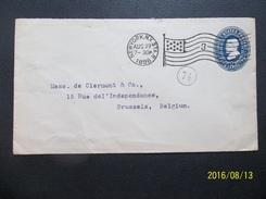 USA: 1896 Postal Envelope To Belgium (#VC4) - ...-1900