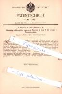 Original Patent  - A. Bayer In Landsberg A. W. , 1893 , Lagerung Der Flachsiebe !!! - Documents Historiques
