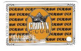 USA - Excalibur Hotel Casino Las Vegas - Crown Club - Room Card - Magnetic Room Key - Hotelkarten