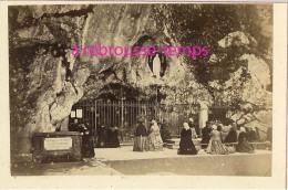CDV En 1872-La Grotte De N-D De Lourdes-pélerins-prière-tournée Pastorale évêque De Tarbes-par Provost Toulouse - Old (before 1900)