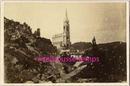 CDV En 1872-la Basilique Notre-Dame Du Rosaire De Lourdes--tournée Pastorale évêque De Tarbes-par Provost Toulouse - Old (before 1900)