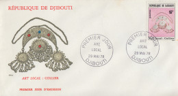 Enveloppe  FDC  1er  Jour    REPUBLIQUE   De   DJIBOUTI   Art  Local : COLLIER   1978 - Djibouti (1977-...)