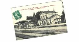 CARTE POSTALE ANCIENNE DE BRICON - La Gare - Autres Communes