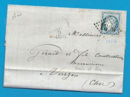 Saone Et Loire - DIGOIN Pour VIERZON (Cher). GC + CàD Type 16. BRASSERIE - Marcophilie (Lettres)
