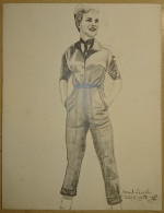Dessin Au Crayon-Illustrateur -Janet Leigh, De Son Vrai Nom Jeanette Helen Morrison, Est Une Actrice Américaine  (7) - Dessins
