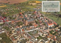 D23424 CARTE MAXIMUM CARD 1975 GERMANY - XANTEN GENERAL VIEW CP ORIGINAL - Architecture