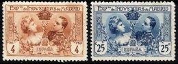 SPAIN 1907 Industrial Exhibition Madrid 25c, 4p Mint - Unused Stamps