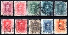 SPAIN 1922 Alfonso XIII 10 Values Used - 1889-1931 Kingdom: Alphonse XIII