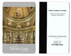 The Venetian/The Palazzo Casino & Hotel, Las Vegas, Used Magnetic Hotel Room Key Card, Venet-80 - Cartes D'hotel