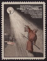 Carbide Lamp / Advertising Stamp - 1910's HUNGARY - LABEL CINDERELLA VIGNETTE - MNH - Chimie