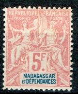 Madagaskar 1896 Yvert N° 42 MLH - Unused Stamps