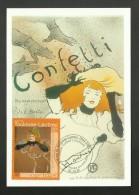 """N° 3421 - Tableau Painting Peintre TOULOUSE LAUTREC """" Confetti """" / 81 - ALBI - Cartes-Maximum"""