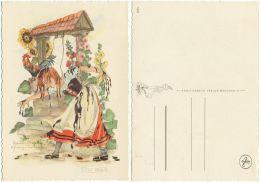 AK Frau Holle, Künstlerkarte Schwarz Torinus - Fairy Tales, Popular Stories & Legends