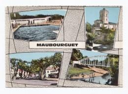 Maubourguet, 4 Vues, Piscine, Pont, Place, 1972, S.P.A.D.E.M. Lu 4 - Maubourguet
