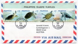 PHILIPPINES - AIR MAIL COVER TO AUSTRIA 2006 / THEMATIC STAMPS / SEA LIFE / MARINE TURTLES - Filippine