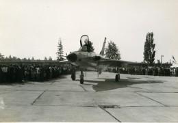 Europe ? Avion De Chasse Militaire Meeting Aerien Ancienne Photo 1960 - Aviation