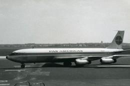Boeing 707 Avion De La Compagnie Commerciale De Transport Aérien Pan American Ancienne Photo 1960 - Aviation