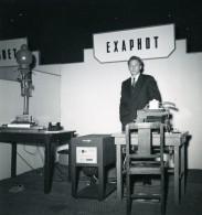 France Paris Salon Photo Ciné Son Stand Exaphot Ancien Snapshot Amateur 1951