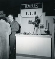 France Paris Salon Photo Ciné Son Stand SEMFLEX Ancien Snapshot Amateur 1951