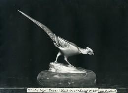 France Paris Art Deco Atelier Cadran Création De Irenée Rochard Faisan Ancienne Photo 1930 - Objects