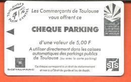 CHEQUE PARKING D'une Valeur De 5 F Offert Par Le Commerçants De Toulouse - France