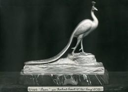 France Paris Art Deco Atelier Cadran Création De Irenée Rochard Paon Ancienne Photo 1930 - Objects