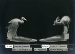 France Paris Art Deco Atelier Cadran Cendriers Cigogne Chamois De Laurent Ancienne Photo 1930 - Objects