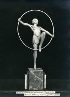 France Paris Art Deco Atelier Cadran Création De Maupertuis Danseuse Au Cerceau Ancienne Photo 1930 - Objects