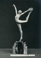 France Paris Art Deco Atelier Cadran Création De Maupertuis Danse Bronze Ancienne Photo 1930 - Objects