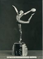 France Paris Art Deco Atelier Cadran Création De Maupertuis Danse Bronze Ivoire Ancienne Photo 1930 - Objects