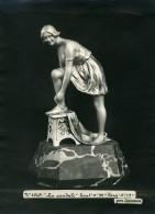 France Paris Art Deco Atelier Cadran Création De Samson La Sandale Ancienne Photo 1930 - Objects