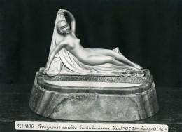 France Paris Art Deco Atelier Cadran Création Anonyme Baigneuse Couchee Ancienne Photo 1930 - Objects