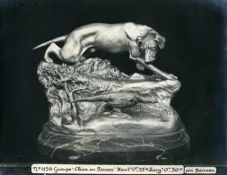 France Paris Art Deco Atelier Cadran Création De Samson Chien Au Faisan Ancienne Photo 1930 - Objects