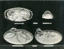 France Paris Art Deco Atelier Cadran Créations De Bertin Plateau Cendrier Ancienne Photo 1930 - Objects