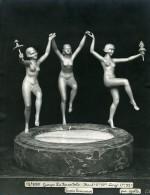 France Paris Art Deco Atelier Cadran Création De Gallo La Farandole Ancienne Photo 1930 - Objects
