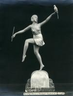 France Paris Art Deco Atelier Cadran Création De Gallo Danseuse Perroquet Ancienne Photo 1930 - Objects