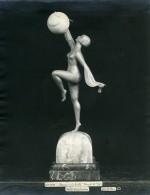 France Paris Art Deco Atelier Cadran Création De Pellier Danse A La Bulle Ancienne Photo 1930 - Objects