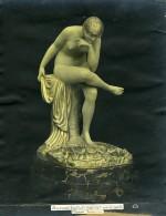 France Paris Art Deco Atelier Cadran Création De Gallo Baigneuse Ancienne Photo 1930 - Objects