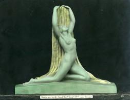 France Paris Art Deco Atelier Cadran Création De Trinque Danse Au Voile Ancienne Photo 1930 - Objects